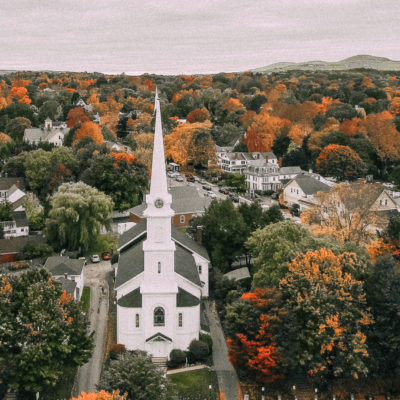 Camden, Maine in Fall- Live Easy, Go Well
